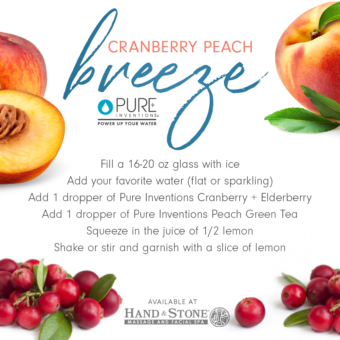 Cranberry and Peach Breeze
